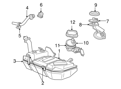 FUEL SYSTEM COMPONENTS for 2000 Ford Mustang