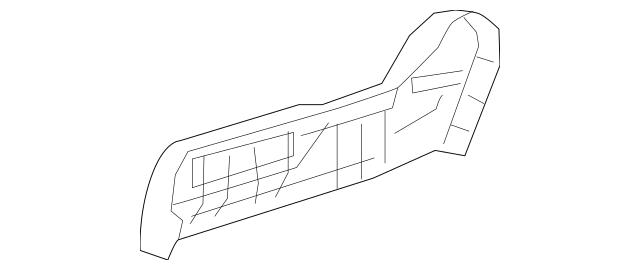 Honda Cover, R Reclining (Outer) *NH900L* (Deep Black