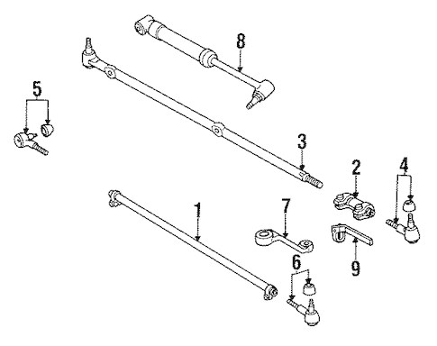 STEERING LINKAGE for 1995 Jeep Wrangler