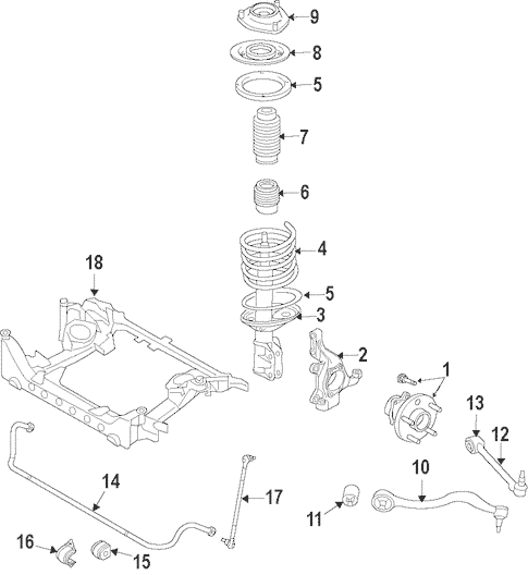 Suspension Components for 2010 Hyundai Genesis Coupe