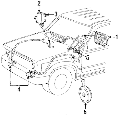AIR BAG COMPONENTS for 1997 Ford Ranger