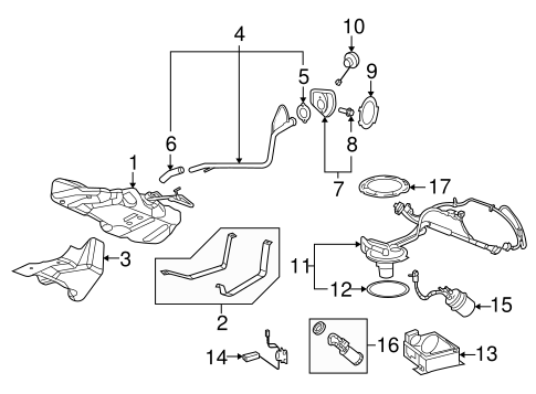 OEM FUEL SYSTEM COMPONENTS for 2008 Pontiac G5