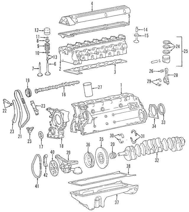 1992-1995 Mercedes-Benz Cylinder Head 603-010-96-20