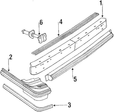 OEM 1986 Oldsmobile Cutlass Ciera Bumper & Components
