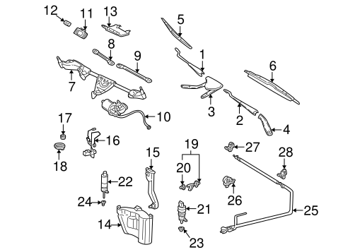 Wiper & Washer Components for 2002 Mercedes-Benz C 230
