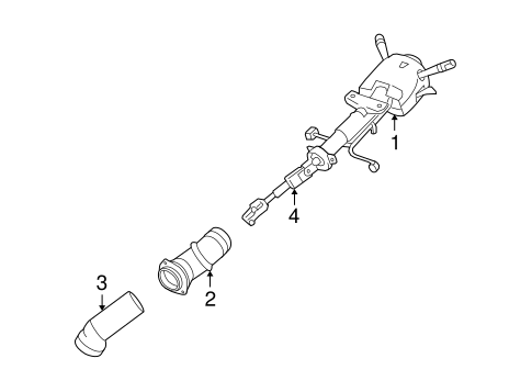 STEERING COLUMN ASSEMBLY for 2006 Chevrolet Monte Carlo