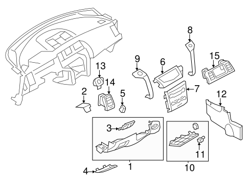 INSTRUMENT PANEL COMPONENTS for 2014 Nissan Murano