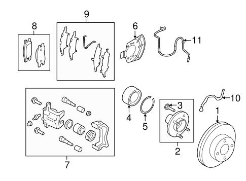 OEM 2014 Nissan Versa Note Front Brakes Parts