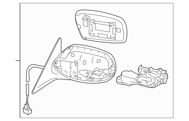 2011-2013 Subaru Forester Mirror Assembly 91029SC490