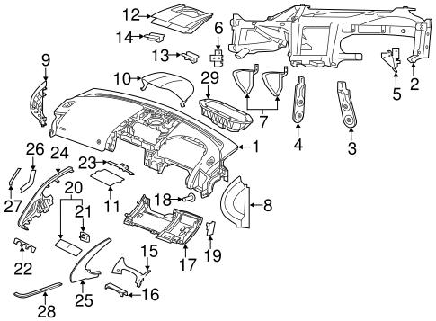 Instrument Panel Components for 2018 Jaguar F-Type