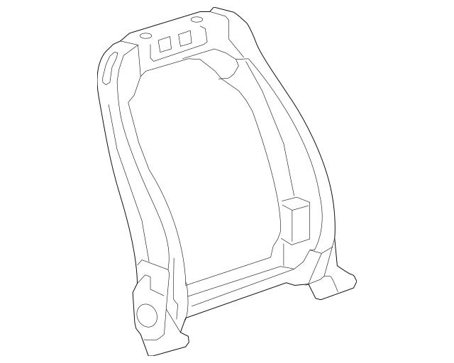2010-2015 Chevrolet Camaro Seat Back Frame 13598492