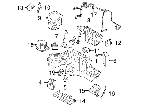 EVAPORATOR & HEATER COMPONENTS for 2010 Ford F-150
