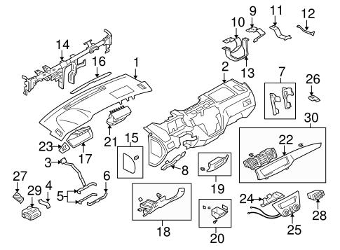 INSTRUMENT PANEL for 2004 Mitsubishi Lancer