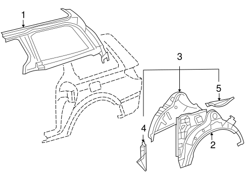 Genuine OEM Inner Structure Parts for 2007 Toyota Sienna