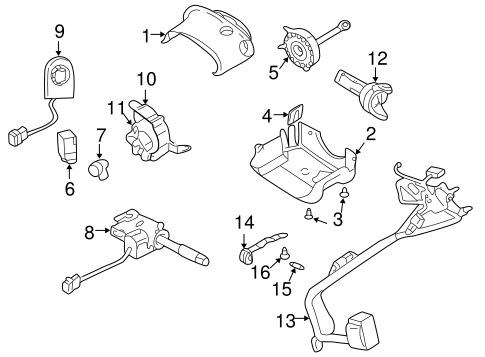 ANTI-THEFT COMPONENTS for 2005 Pontiac Aztek