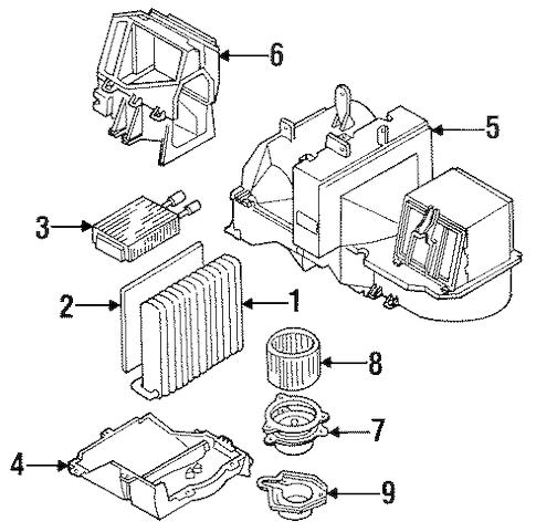 Condenser, Compressor & Lines for 1993 Cadillac Fleetwood
