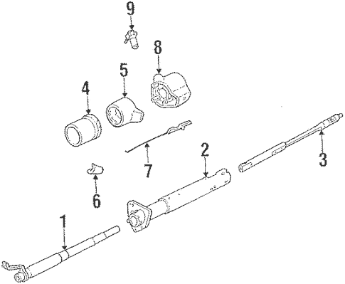 Steering Column Components for 1988 Chevrolet S10 Blazer