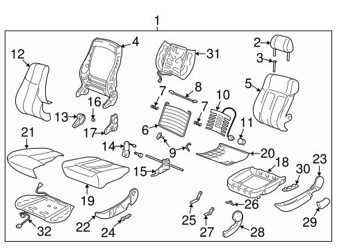 Front Seat Components 2003 Saturn L200 OEM