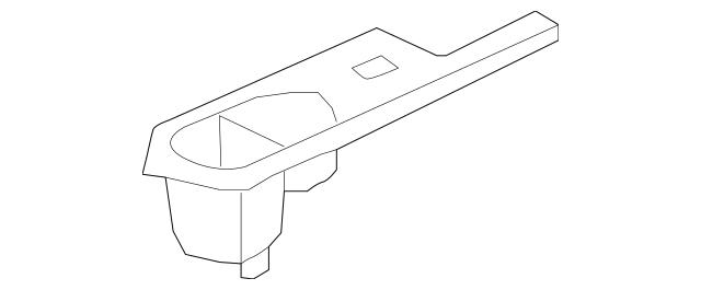 Panel, L Power Window Switch *NH167L* (Graphite Black