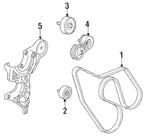 OEM 1994 Chevrolet K2500 Pickup Belts & Pulleys Parts