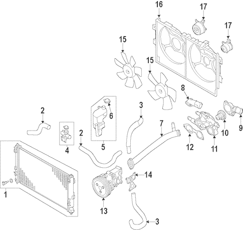 Radiator & Components for 2013 Mitsubishi Outlander Sport