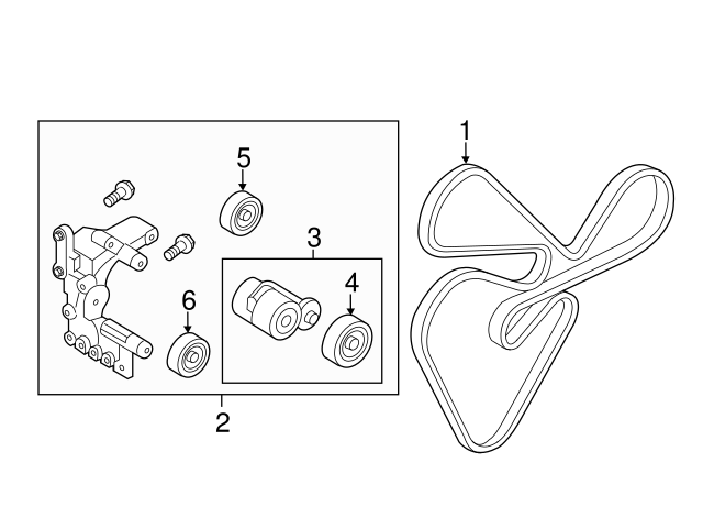 2009 Kia Rondo 2.4 Serpentine Belt Diagram : This kia