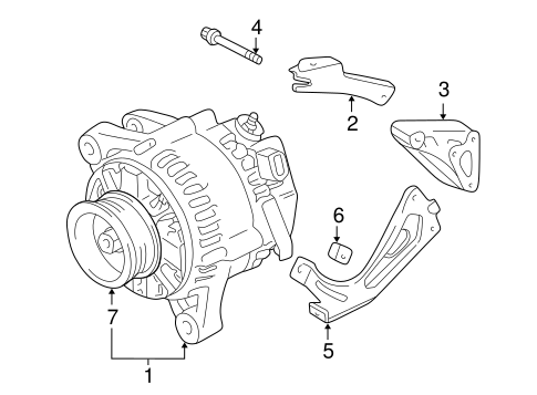Genuine OEM Alternator Parts for 2006 Toyota Solara SE