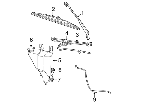 Wiper & Washer Components for 2005 Dodge Ram 3500