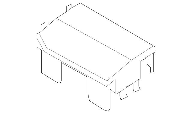 Genuine 2006-2013 Mazda Miata MX-5 Battery Box Cover LFG1