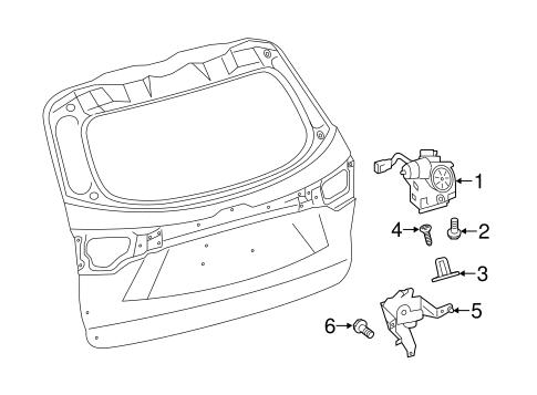 Genuine OEM LIFTGATE Parts for 2014 Toyota Highlander