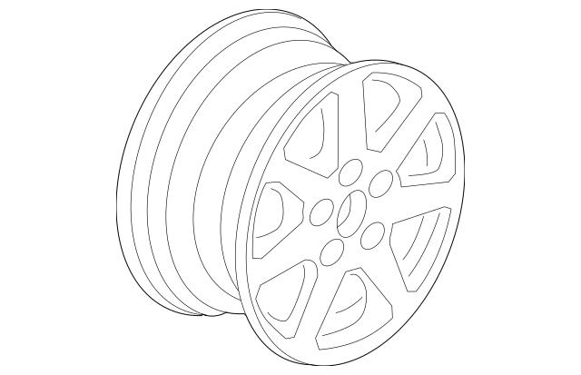 2008 Acura TSX SEDAN Disk, Aluminum Wheel (17X7JJ) (TPMS