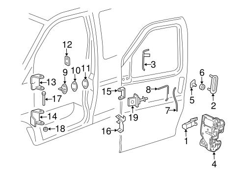 01-14 Express GMC Savana Interior Left Hand Driver's Side