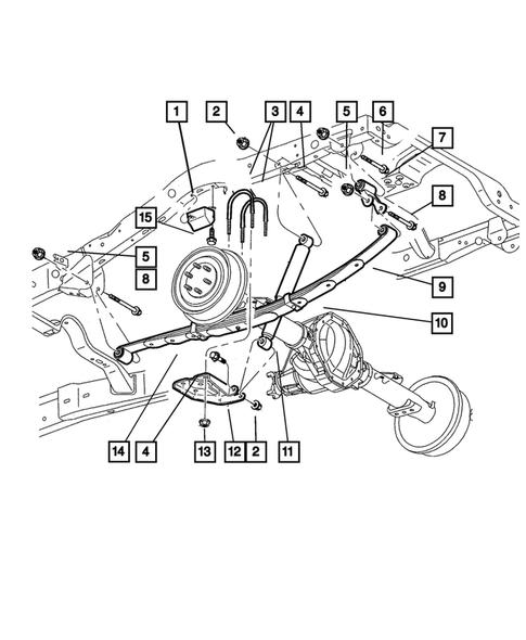 2004 Dodge Durango Rear Suspension Diagram