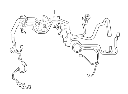 Genuine OEM Wiring Harness Parts for 2017 Toyota Camry SE