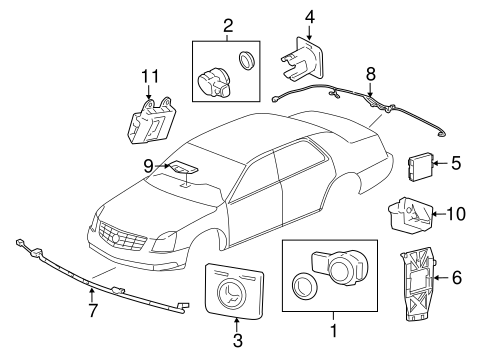 OEM ELECTRICAL COMPONENTS for 2007 Cadillac DTS
