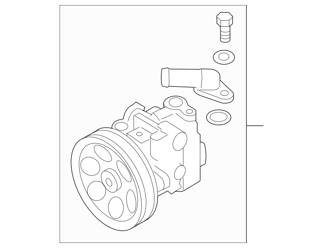 2011-2013 Subaru Forester Power Steering Pump Assembly