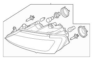 2013-2016 Volkswagen Jetta Composite Headlamp 5C7-941-751