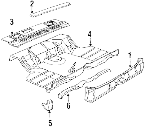 REAR BODY PANEL Parts for 1984 Cadillac DeVille