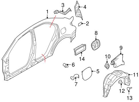 Quarter Panel & Components for 2012 Suzuki Kizashi