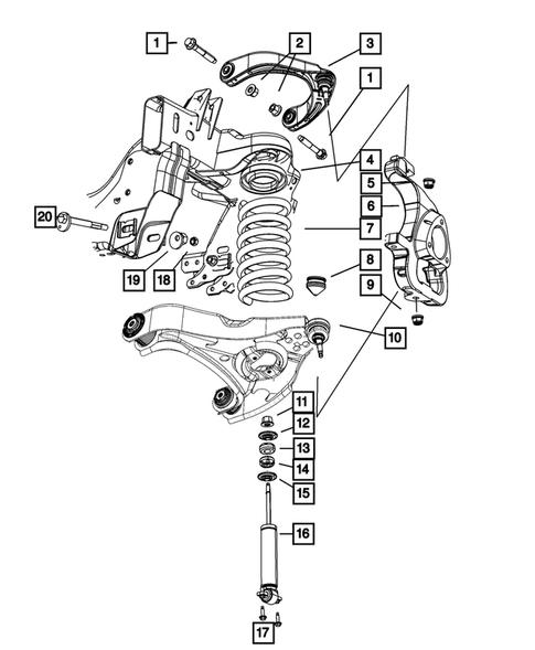 Dodge Ram Front Suspension Diagram : dodge, front, suspension, diagram, Front, Suspension,, Strut, Cradle, Dodge, Thomas, Parts