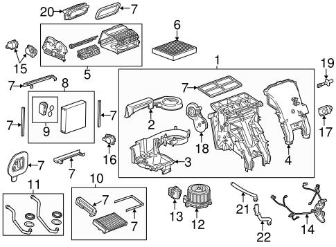 Evaporator & Heater Components for 2014 Buick Verano