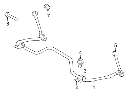 Stabilizer Bar & Components for 1999 Dodge Durango