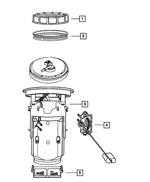 Fuel Pump and Sending Unit for 2003 Dodge Viper