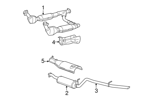 EXHAUST COMPONENTS for 2006 Ford Expedition