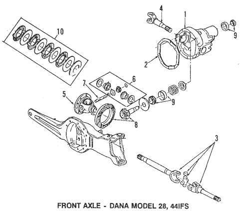 OEM 1990 Ford F-150 Front Axle Parts