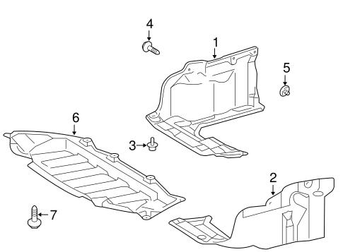 Genuine OEM Splash Shields Parts for 2013 Toyota Corolla