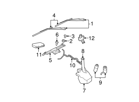 Wiper & Washer Components for 2006 Jeep Grand Cherokee