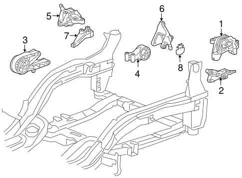 Engine & Trans Mounting for 2015 Chevrolet Cruze