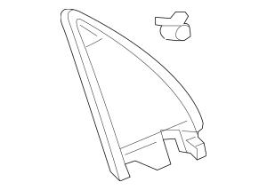 2006-2014 Honda RIDGELINE SEDAN Garnish, L Door Mirror
