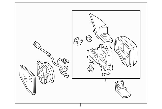 2013-2014 Honda RIDGELINE SEDAN Mirror Assembly, Right